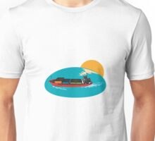 Container Ship Cargo Boat Unisex T-Shirt