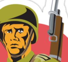 World War Two American Soldier Sticker