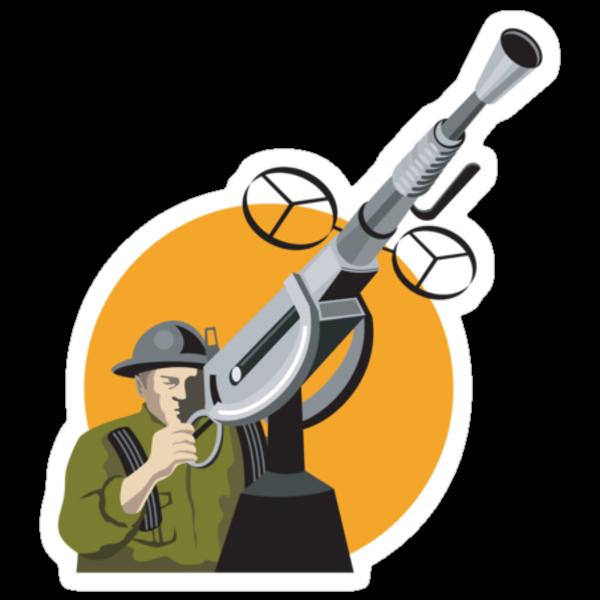 World War Two British Soldier Machine Gun by patrimonio