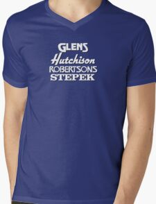 Glens, Hutchison, Robertson and Stepek Mens V-Neck T-Shirt