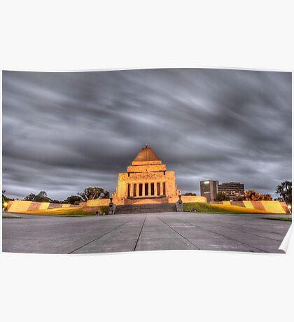 Melbourne War Memorial HDR Poster