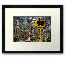 Fairies in the forrest Framed Print