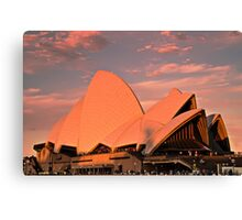 Opera House Sails in the Sunset Canvas Print