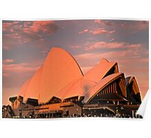 Opera House Sails in the Sunset Poster