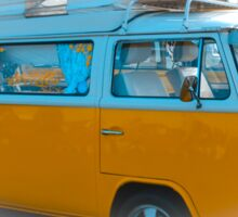 Vehicle - Orange Camper Van Sticker