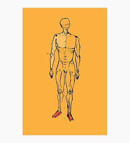 human figure sketch  Photographic Print