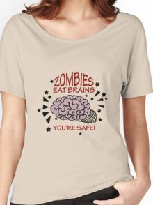 Zombies eat Brains VRS2 Women's Relaxed Fit T-Shirt