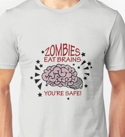 Zombies eat Brains VRS2 T-Shirt