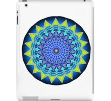 Mandala in Blue & Yellowish Green iPad Case/Skin