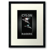 Cylon Raider Space Patrol Framed Print