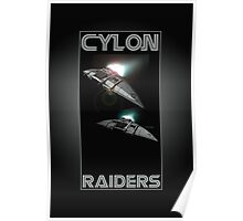 Cylon Raider Space Patrol Poster