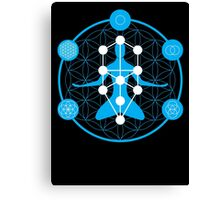 Spirituality and Flower of Life Canvas Print