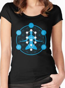 Spirituality and Flower of Life Women's Fitted Scoop T-Shirt