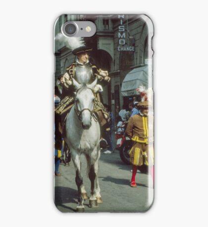 Gentleman on horseback, C16 Costume Parade Florence Italy 19840708 0034 iPhone Case/Skin
