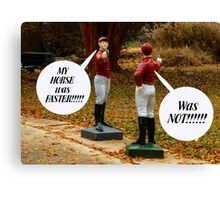 The Arguing Jockeys Canvas Print