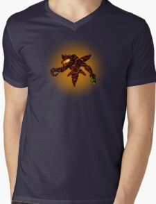 Sci-Fi Lava Alien from another world Mens V-Neck T-Shirt