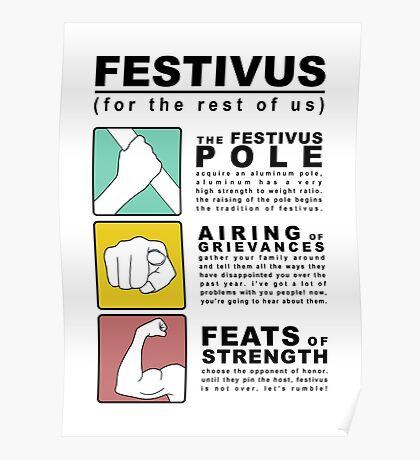 FESTIVUS airing of grievances illustration Poster