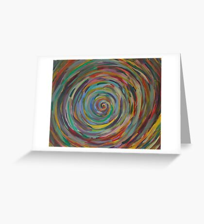 Chaos Spiral Greeting Card