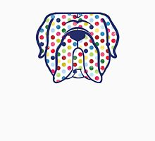 Mastiff dog face in polka dots! Dogue de Bordeaux, Bordeaux Mastiff, French Mastiff Unisex T-Shirt