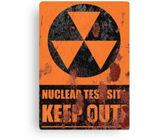 Nuclear Test Site(Rusty) Canvas Print