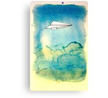 Papering Sky Canvas Print