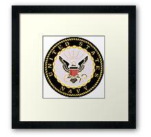 Navy Logo Framed Print