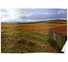 Galloway Forrest Hut Poster