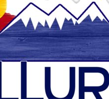 Telluride Colorado wood mountains Sticker