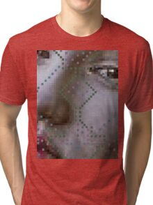 pixelated Tri-blend T-Shirt