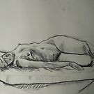 Nude Life Drawing by JolanteHesse