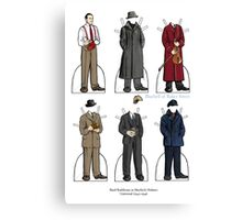 Basil Rathbone as Sherlock Holmes Canvas Print