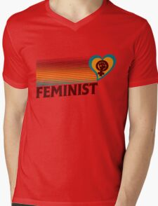 Retro Feminist  Mens V-Neck T-Shirt