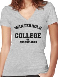 Winterhold College T Shirt Women's Fitted V-Neck T-Shirt