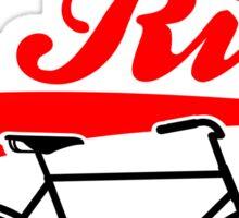 Born To Ride Bike Design Sticker