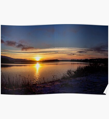 Winter Sunset Poster