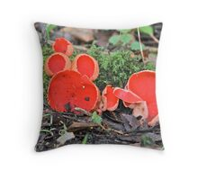 Scarlet Elf Cups Throw Pillow