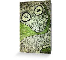Swirly snake Greeting Card