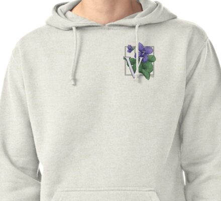 V is for Violet patch Pullover Hoodie