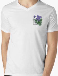 V is for Violet patch Mens V-Neck T-Shirt
