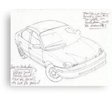 car demo Canvas Print