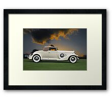 1933 Packard 12 Convertible Framed Print