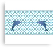 Scales | Dolphin Canvas Print