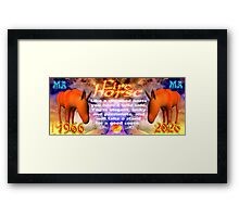 Chinese Zodiac, fire horse, 1966, 2026, born, Framed Print