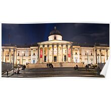 The National Gallery on Trafalgar Square, London Poster