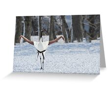 Crane stance Greeting Card