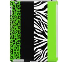 Green Zebra and Leopard Animal Print Stripes iPad Case/Skin