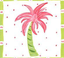 Pink Palm Tree by lemondaisy