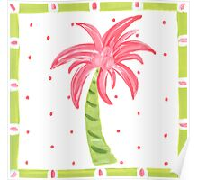Pink Palm Tree Poster