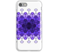 Purple rectangle of curves iPhone Case/Skin