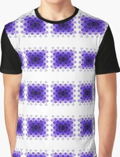 Purple rectangle of curves Graphic T-Shirt